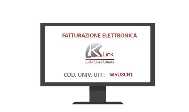 Comunicazione codice univoco k link srl per la for Codice univoco per fatturazione elettronica